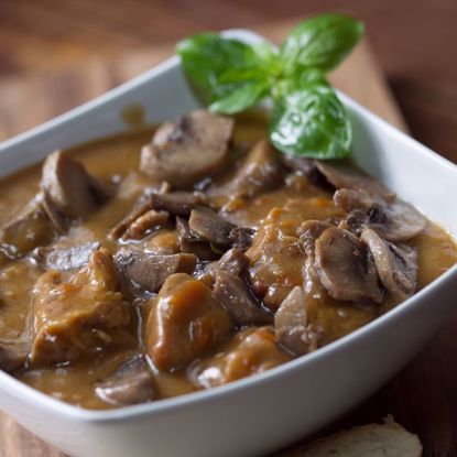 Pork Shoulder in Mushroom Sauce